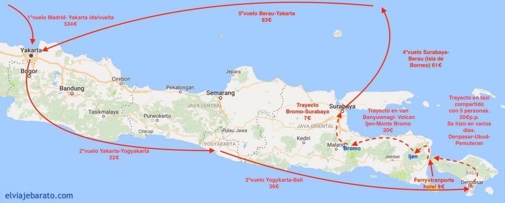 trayectos Indonesia