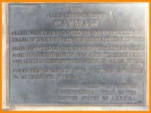 Oatman gold mining town