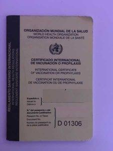 cartilla vacunación