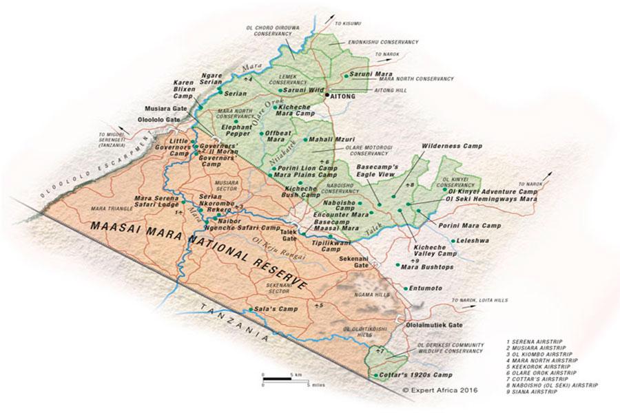 mapa Masai Mara