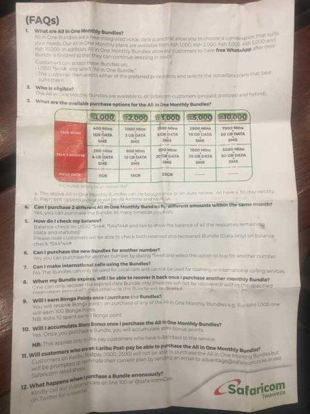 tarifas Safaricom Kenia
