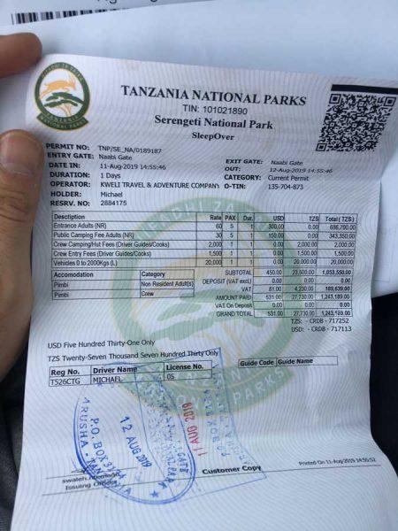 precio entrada Serengeti