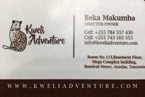 tarjeta Kweli adventure